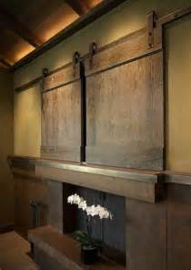 Sliding Barn Door Tv Cover 21 Modern Interior Design Ideas For Displaying And Hiding Your Flat Tv