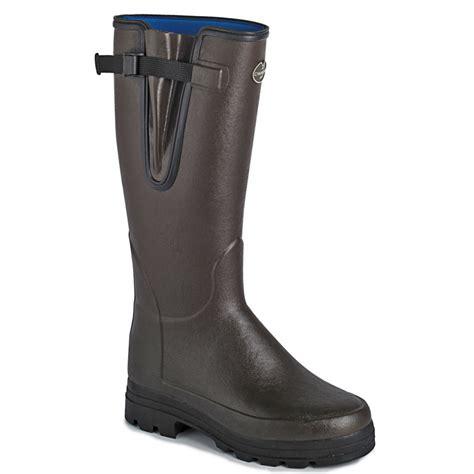 mens le chameau boots vierzonord neoprene lined wellington boots vierzonord