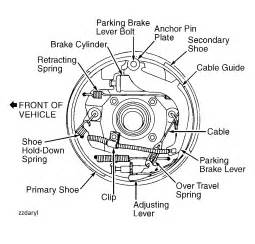 Rear Brake System Diagram 98 Ranger Rear Brake Diagrams 4x4 6 Cy Adjuster Lever