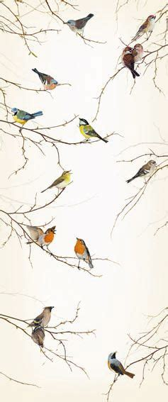 brewster home fashions komar birds  panel wall mural