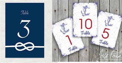 nautical wedding table numbers preppy wedding style