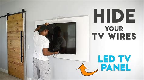 tv panel wall mount  tv  hide