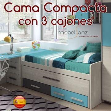 cama compacta juvenil cajones cama compacto juvenil con 3 contenedores o cajones