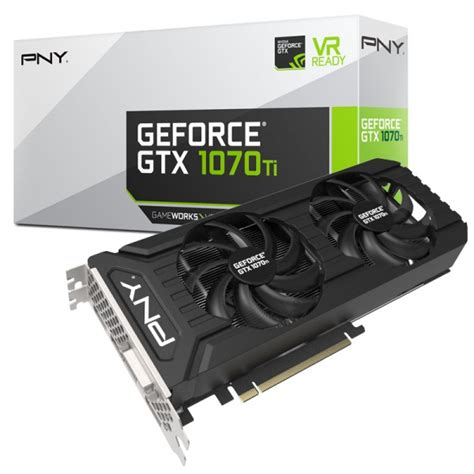 pny 1070 dual fan pny geforce gtx 1070 ti dual fan 8192 mb gddr5 gcpn 051