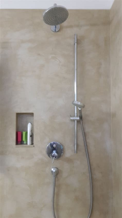 beton cire dusche erfahrungen fugenlose design b 246 den fugenloser putz im bad beton cire