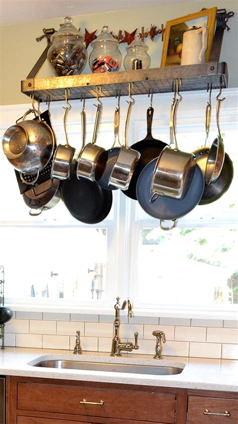 Hanging Pots Pans How To Design A Functional Tiny Kitchen Compact Appliance