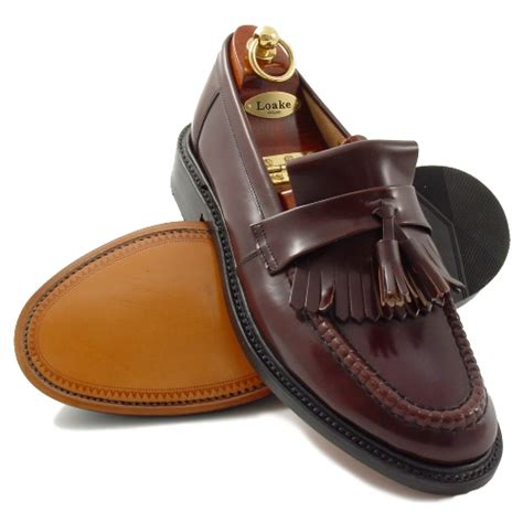 loake loafers loake brighton oxblood tassel loafers mod shoes