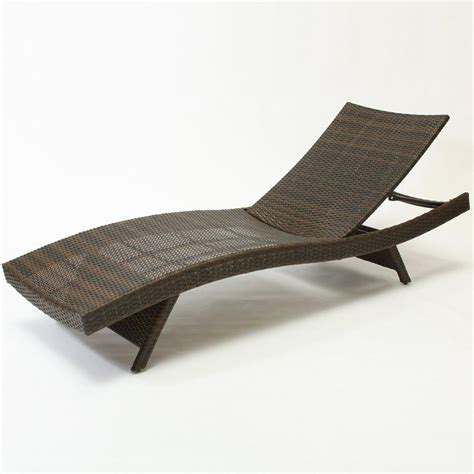Folding Chaise Lounge Shop Best Selling Home Decor Multi Brown Wicker Stackable Folding Patio Chaise Lounge Chair At