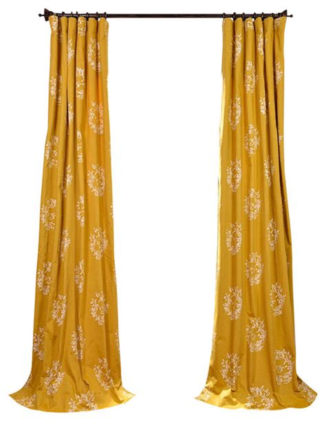 mustard curtain isles mustard printed cotton curtain contemporary