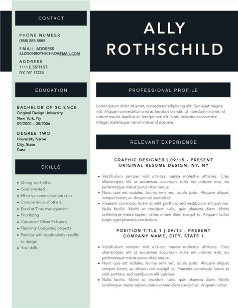 resume template for apple pages winning resume templates for microsoft word apple pages