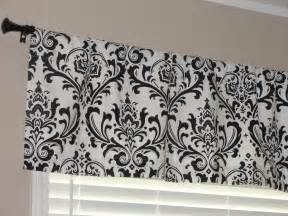 Black Valance Premier Prints Black And White Damask Valance 50 Wide X