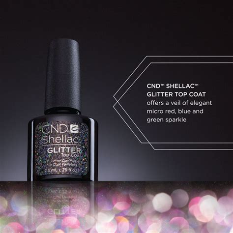 matte top coat on glitter cnd shellac alluring trilogy the top coat collection cnd