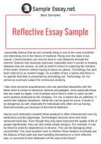 Sles Of Reflective Essays by Buy A Reflective Essay