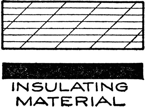 Mechanical Drawing Cross Hatching Of Insulating Material