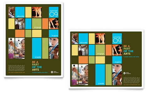 Arts Council Education Poster Template Word Publisher Microsoft Poster Templates