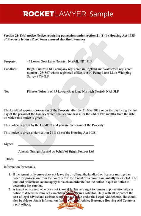 section eviction notice template wales