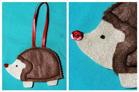 simple felt christmas ornament totally stitchin