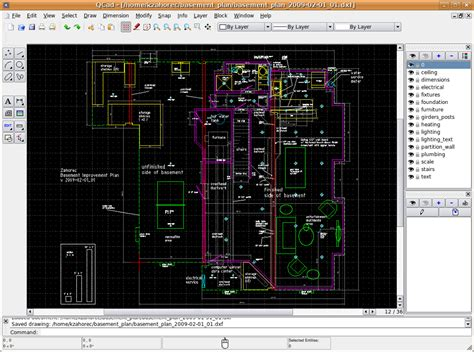 open source floor plan software windows free open source 2d drafting cad for floor