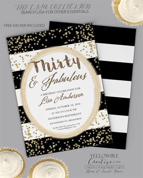 30th Birthday Flyer Templates