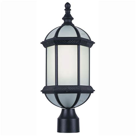 Bel Air Outdoor Lighting Bel Air Lighting Energy Saving 1 Light Outdoor Black Post Top Lantern With Frosted Glass Pl 4186