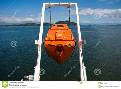 free fall boats free fall life boat stock photo image of ocean industry