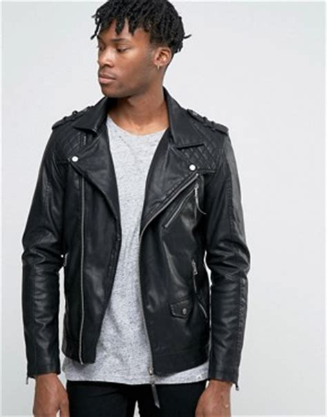 Look Korean Jaket Comby Leather 51 s leather jackets suede jackets for asos