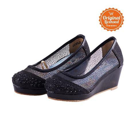 Sepatu Anak Black Toddler jual disney frozen high wedges sepatu anak perempuan black harga kualitas