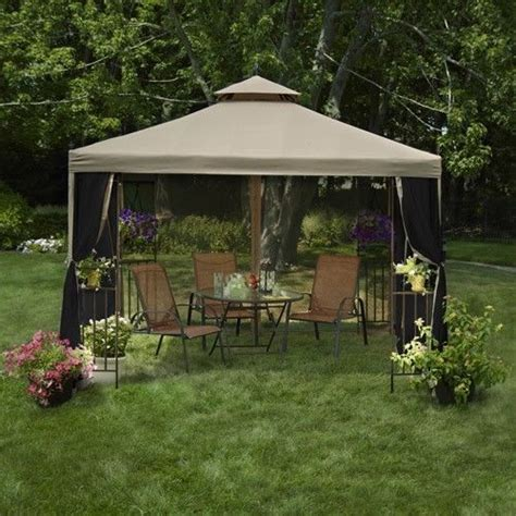 Patio Canopy Gazebo 10x10 Gazebo Canopy Tent Garden Patio Umbrella Frame Screen House Netting Gardens