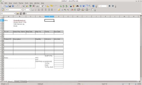 Libreoffice Invoice Template Invoice Exle Libreoffice Ebook Template