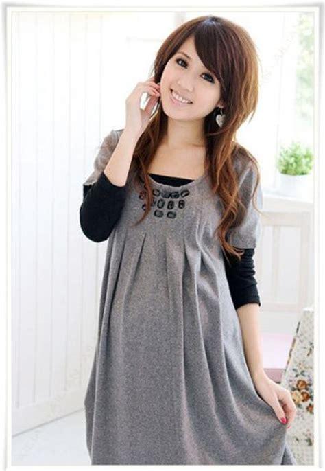 Dress Dress Korea Baju Korea Mini Dress 2 korean trendy two tone sleeves maternity dress baju bersalin selangor end time 1 12