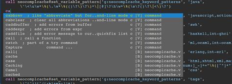 vim user defined completion pattern not found github shougo neocomplcache vim ultimate auto