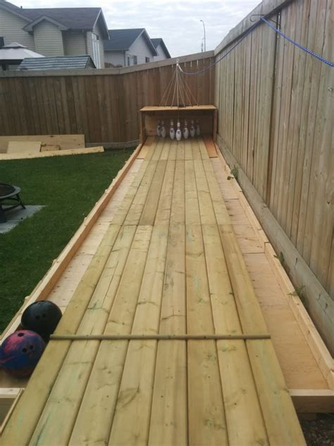 diy backyard bowling alley amazing diy wood backyard bowling alley 1001 gardens