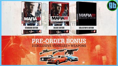 sony mafia iii deluxe edition ps4 mafia iii prices standard deluxe collectors editions