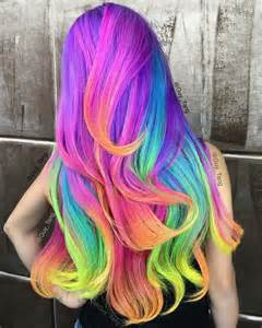 unicorn hair color neon unicorn rainbow by tang fashion hair colors