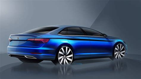 vw teases  jetta   sketches including interior