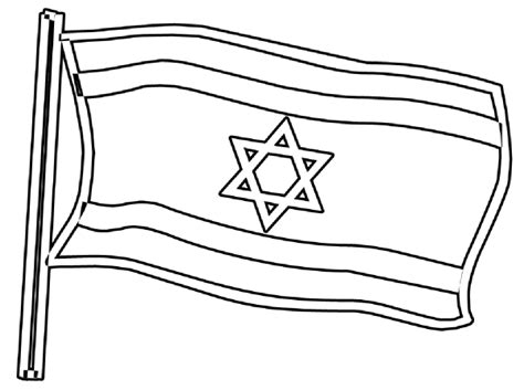 symbol for israel coloring flag coloring pages