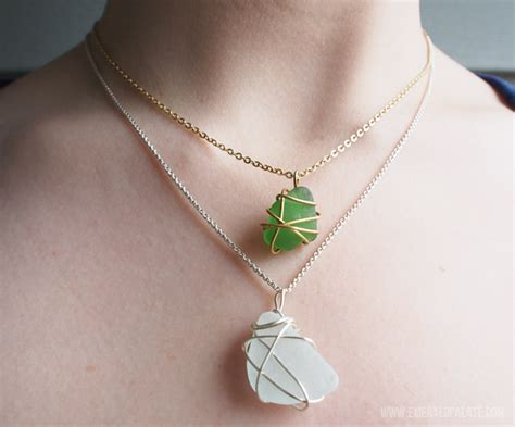 glass jewelry easy easy diy necklace with sea glass or the emerald palate