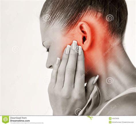 sore ear earache stock photo image 40478195