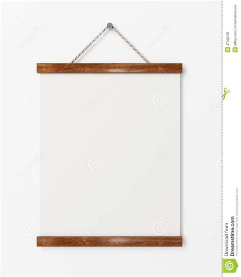 template for hanging pictures mock up blank poster with wooden frame hanging on the