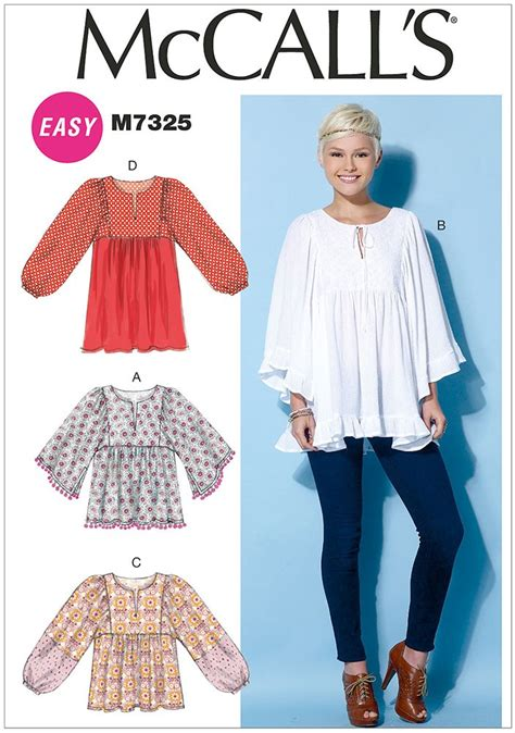 top pattern making books misses gathered tops and tunic mccalls sewing pattern 7325