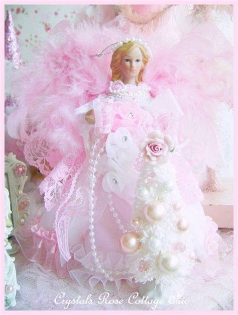 shabby chic tree toppers shabby pink mini tree topper 2