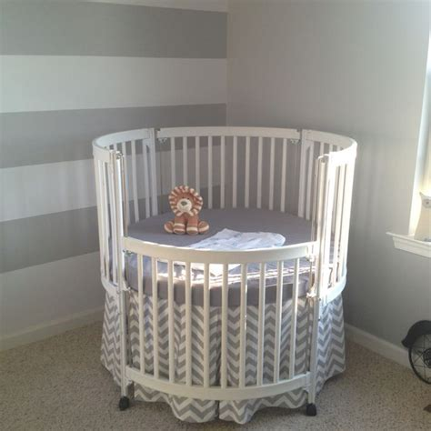 Circle Crib With Canopy by Beautiful White Crib Yes Nursery