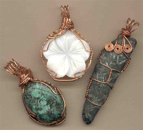 wire wrapped stone casual pinterest