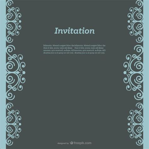invitation design vector free download swirly invitation design vector free download