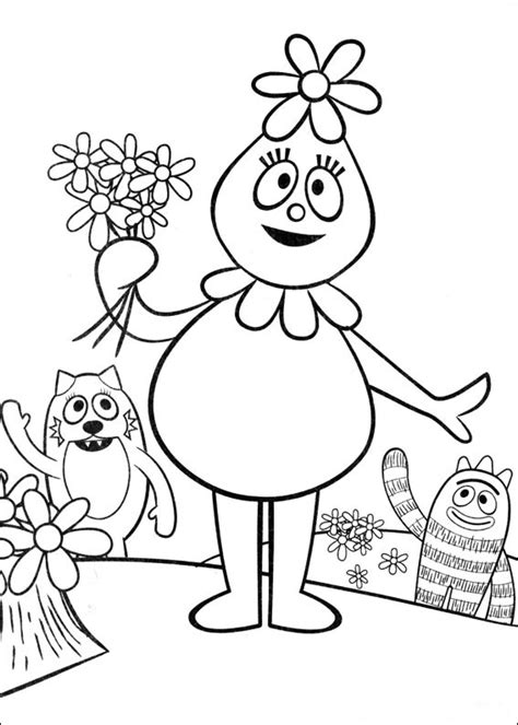 printable coloring pages yo gabba gabba coloring pages yo gabba gabba coloring pages