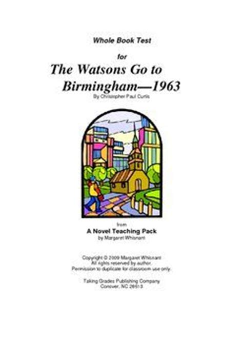 libro the book of five watsons go to birmingham 1963 whole book test libro y lectura