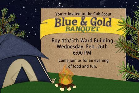 Blue Gold Banquet Cing Theme Cub Scout Ideas Pinterest Cing Theme Blue Gold And Blue And Gold Banquet Program Template