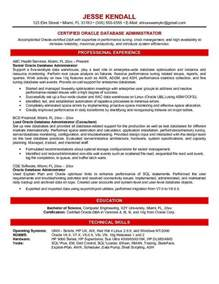 Resume Database Doc 8441051 Oracle Database Administrator Sle Resume Bizdoska