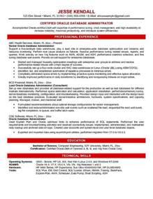 Oracle Database Administrator Resume