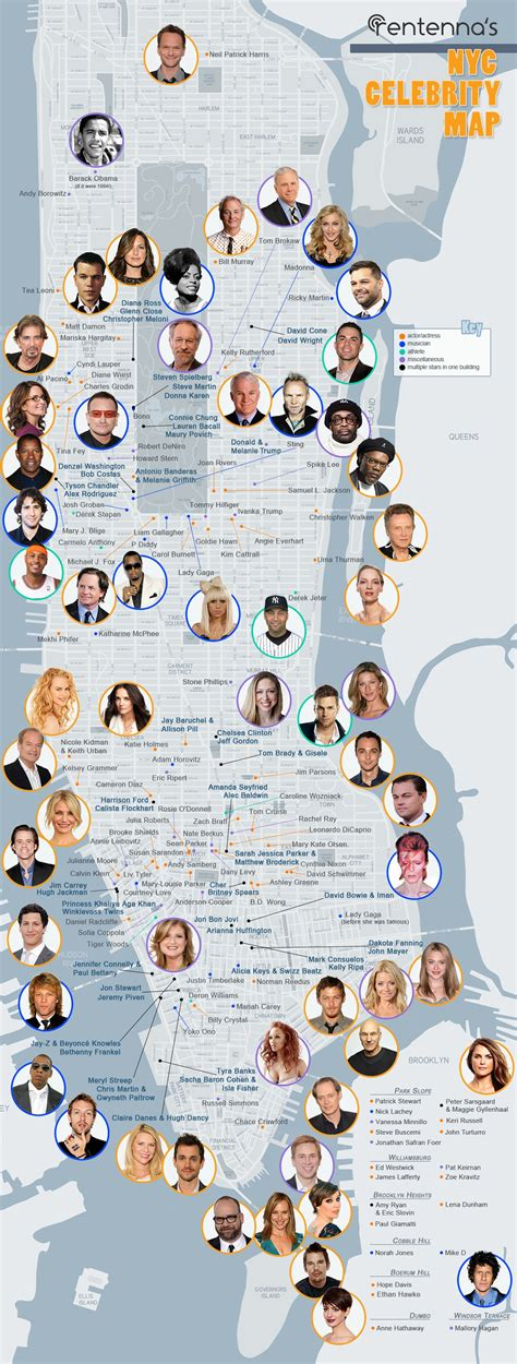 famous people that live in new york celebrities that live in new york infographic